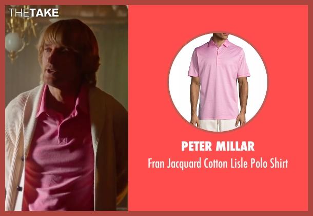 Peter Millar pink shirt from Bastards seen with Owen Wilson (Kyle Reynolds)