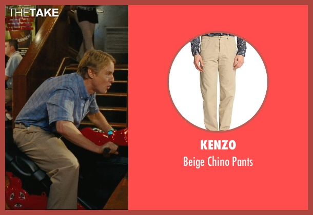 Kenzo beige pants from Hall Pass seen with Owen Wilson (Rick)