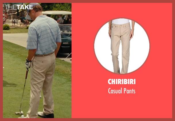 Chiribiri beige pants from Hall Pass seen with Owen Wilson (Rick)