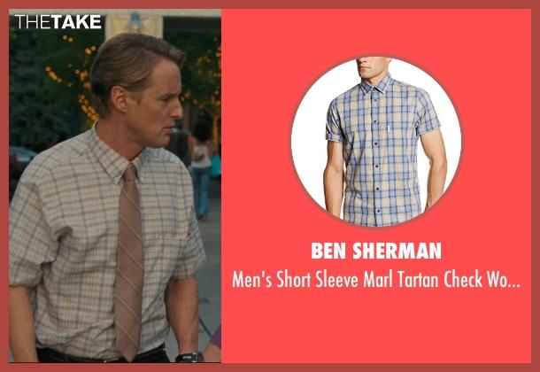 Ben Sherman beige shirt from Hall Pass seen with Owen Wilson (Rick)