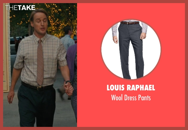 Louis Raphael black pants from Hall Pass seen with Owen Wilson (Rick)