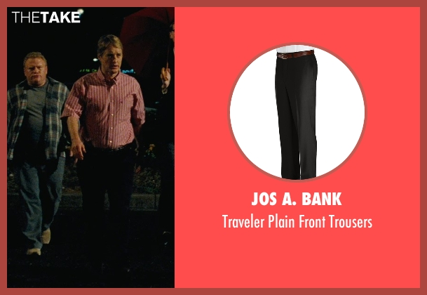 Jos A. Bank black trousers from Hall Pass seen with Owen Wilson (Rick)