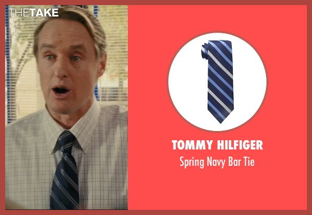 Tommy Hilfiger blue tie from Hall Pass seen with Owen Wilson (Rick)