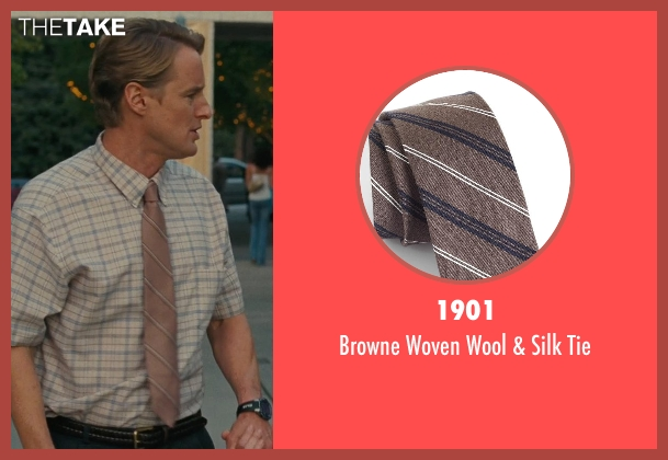 1901 brown tie from Hall Pass seen with Owen Wilson (Rick)