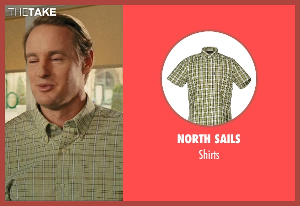 North Sails green shirts from Hall Pass seen with Owen Wilson (Rick)