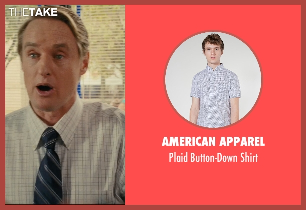 American Apparel white shirt from Hall Pass seen with Owen Wilson (Rick)