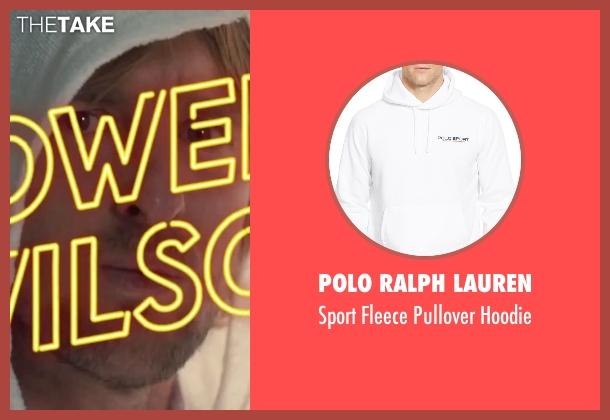 Polo Ralph Lauren white hoodie from Inherent Vice seen with Owen Wilson (Coy Harlingen)