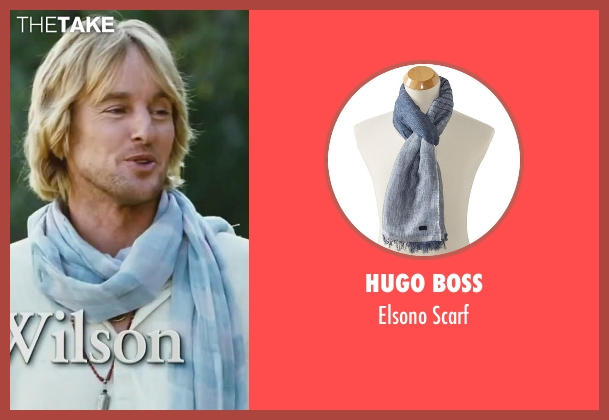 Hugo Boss blue scarf from Little Fockers seen with Owen Wilson (Kevin Rawley)