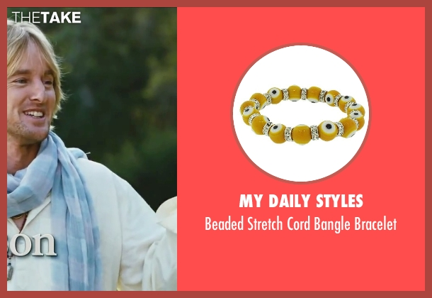 My Daily Styles yellow bracelet from Little Fockers seen with Owen Wilson (Kevin Rawley)