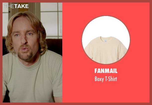 Fanmail beige t-shirt from Masterminds seen with Owen Wilson (Steve)