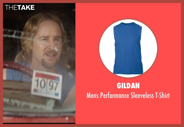 Gildan blue t-shirt from Masterminds seen with Owen Wilson (Steve)