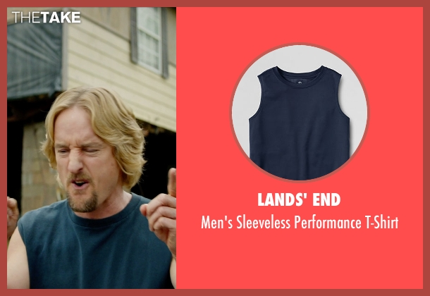 Lands' End blue t-shirt from Masterminds seen with Owen Wilson (Steve)