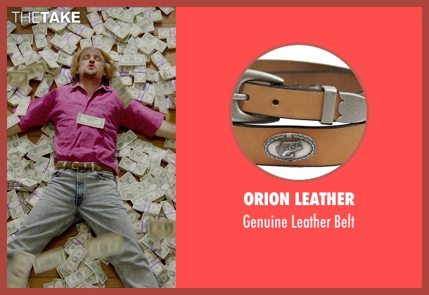 Orion Leather brown belt from Masterminds seen with Owen Wilson (Steve)