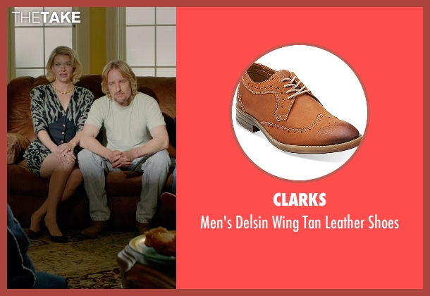 Clarks brown shoes from Masterminds seen with Owen Wilson (Steve)