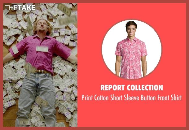 Report Collection pink shirt from Masterminds seen with Owen Wilson (Steve)