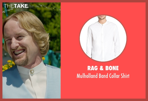 Rag & Bone white shirt from Masterminds seen with Owen Wilson (Steve)