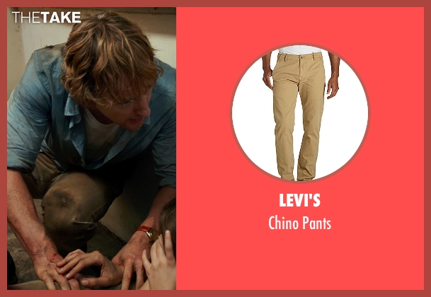 Levi's brown pants from No Escape seen with Owen Wilson (Jack Dwyer)