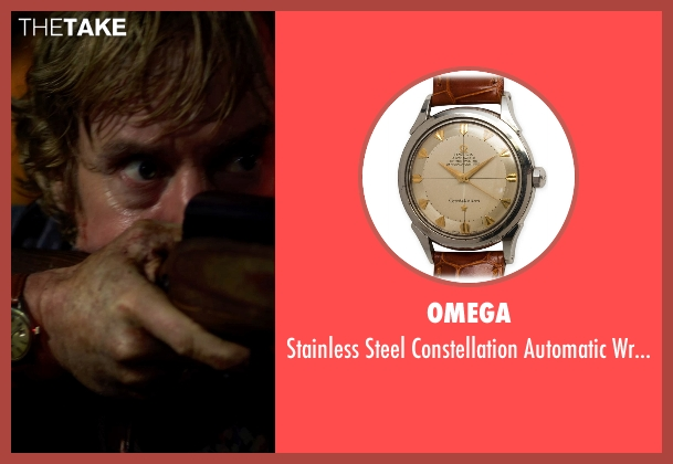 Omega brown wristwatch from No Escape seen with Owen Wilson (Jack Dwyer)