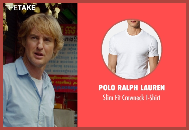 Polo Ralph Lauren white t-shirt from No Escape seen with Owen Wilson (Jack Dwyer)