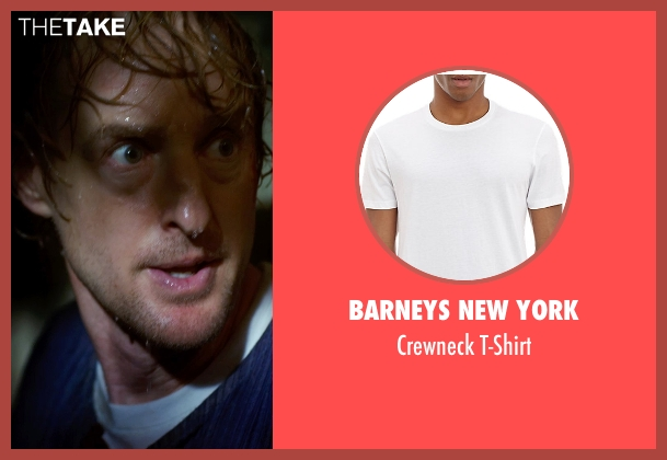 Barneys New York white t-shirt from No Escape seen with Owen Wilson (Jack Dwyer)