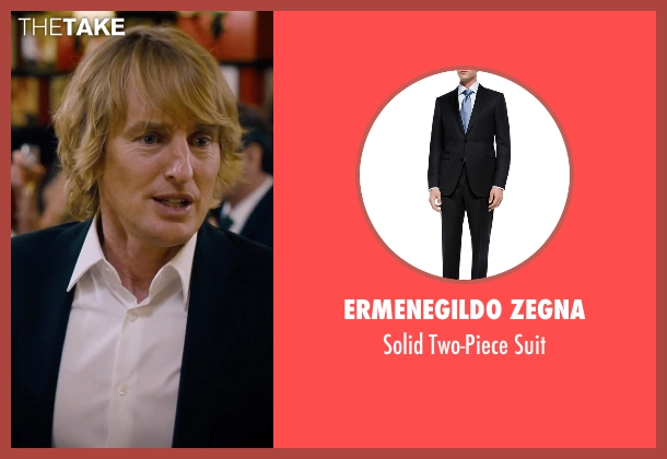 Ermenegildo Zegna	 black suit from She's Funny That Way seen with Owen Wilson (Arnold Albertson)