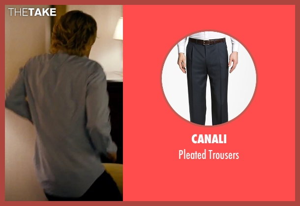 Canali black trousers from She's Funny That Way seen with Owen Wilson (Arnold Albertson)