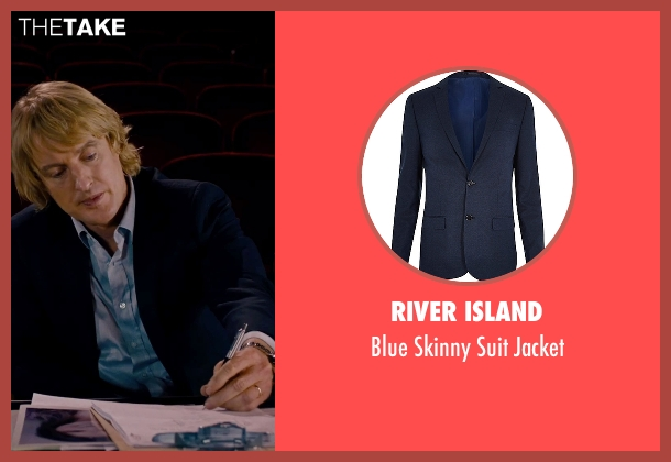 River Island blue jacket from She's Funny That Way seen with Owen Wilson (Arnold Albertson)