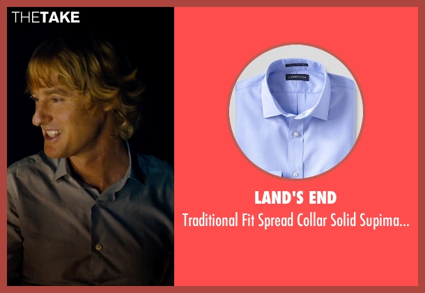 Land's End blue shirt from She's Funny That Way seen with Owen Wilson (Arnold Albertson)