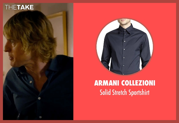 Armani Collezioni blue sportshirt from She's Funny That Way seen with Owen Wilson (Arnold Albertson)