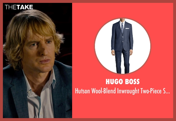 Hugo Boss blue suit from She's Funny That Way seen with Owen Wilson (Arnold Albertson)