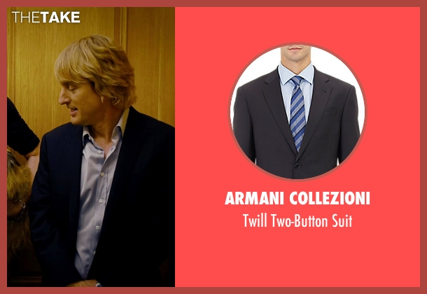 Armani Collezioni blue suit from She's Funny That Way seen with Owen Wilson (Arnold Albertson)