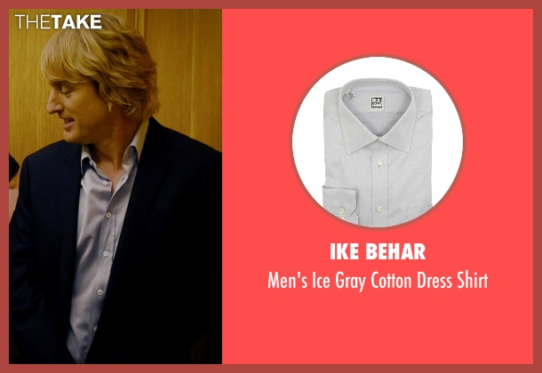 Ike Behar gray shirt from She's Funny That Way seen with Owen Wilson (Arnold Albertson)