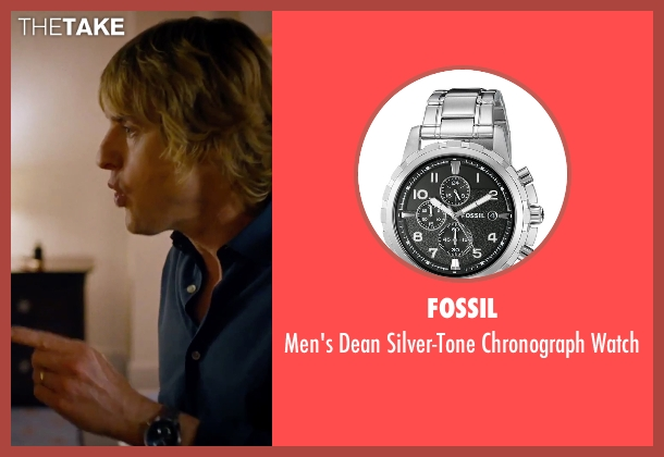 Fossil silver watch from She's Funny That Way seen with Owen Wilson (Arnold Albertson)