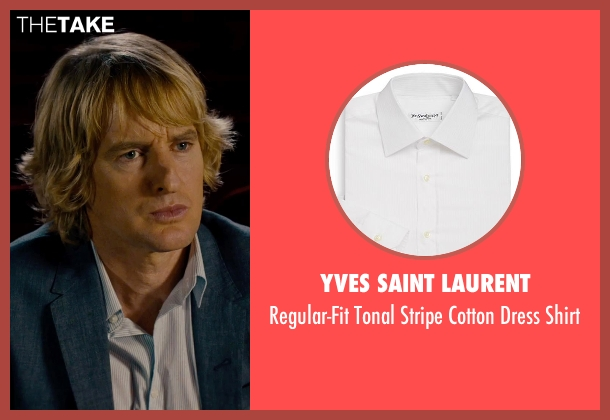 Yves Saint Laurent white shirt from She's Funny That Way seen with Owen Wilson (Arnold Albertson)
