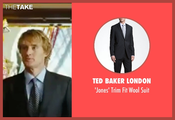 Ted Baker London black suit from Wedding Crashers seen with Owen Wilson (John Beckwith)