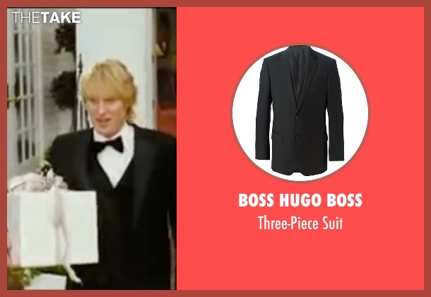 Boss Hugo Boss black suit from Wedding Crashers seen with Owen Wilson (John Beckwith)