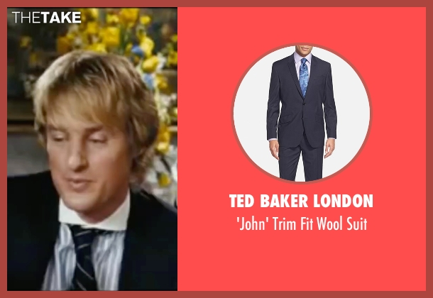 Ted Baker London blue suit from Wedding Crashers seen with Owen Wilson (John Beckwith)