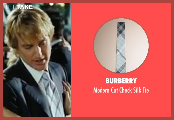 Burberry blue tie from Wedding Crashers seen with Owen Wilson (John Beckwith)