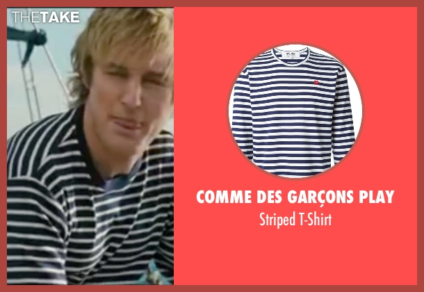 Comme Des Garçons Play blue t-shirt from Wedding Crashers seen with Owen Wilson (John Beckwith)
