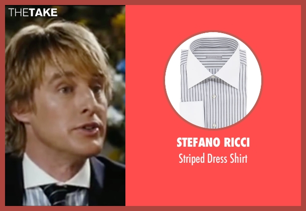 Stefano Ricci white shirt from Wedding Crashers seen with Owen Wilson (John Beckwith)
