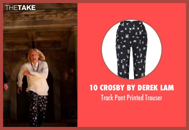 10 Crosby by Derek Lam black trouser from Zoolander 2 seen with Owen Wilson (Hansel)