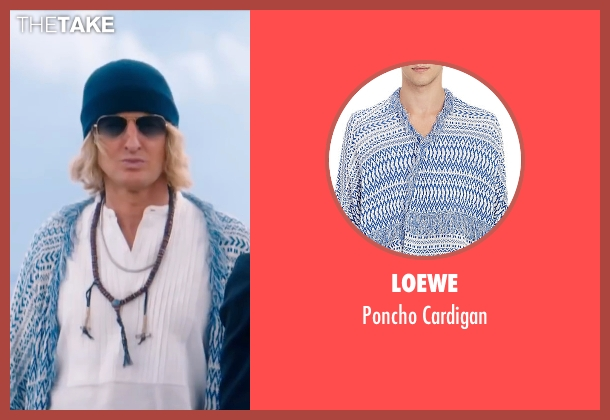 Loewe blue cardigan from Zoolander 2 seen with Owen Wilson (Hansel)