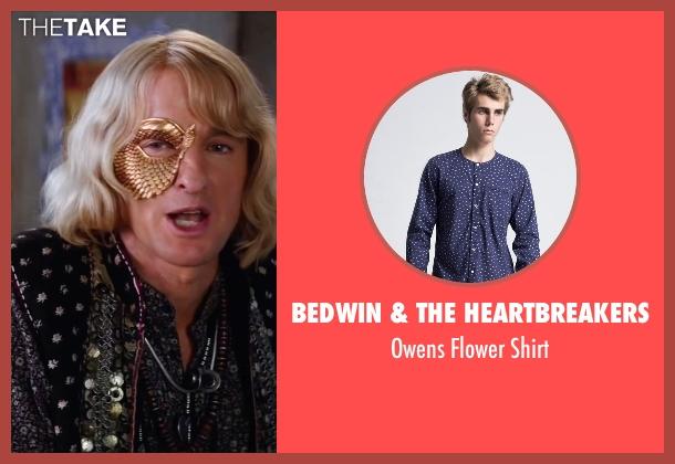 Bedwin & The Heartbreakers blue shirt from Zoolander 2 seen with Owen Wilson (Hansel)