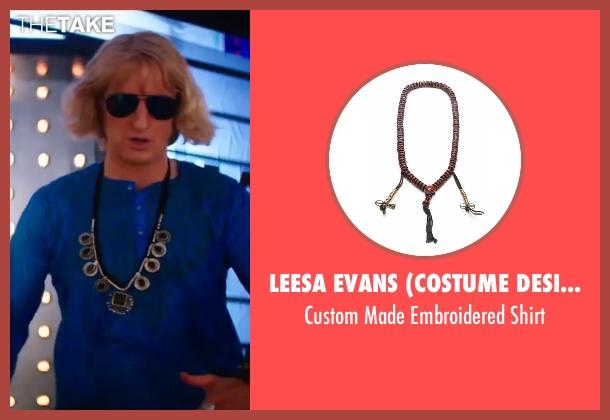 Leesa Evans (Costume Designer) blue shirt from Zoolander 2 seen with Owen Wilson (Hansel)