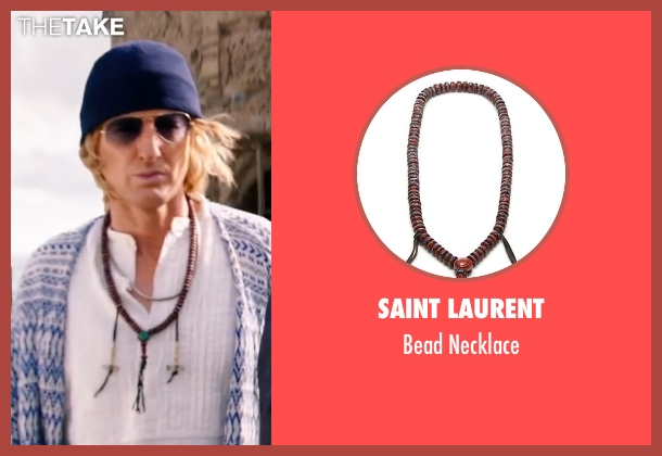 Saint Laurent necklace from Zoolander 2 seen with Owen Wilson (Hansel)
