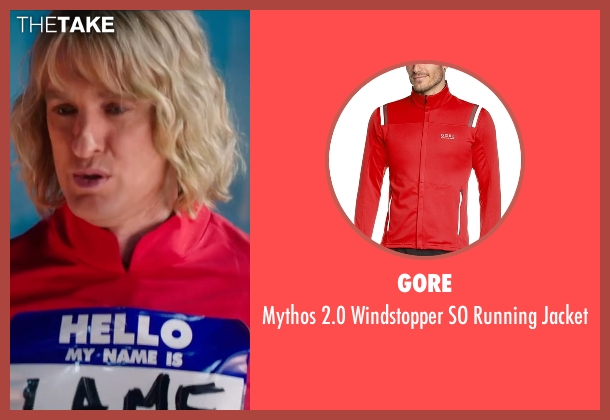 Gore red jacket from Zoolander 2 seen with Owen Wilson (Hansel)
