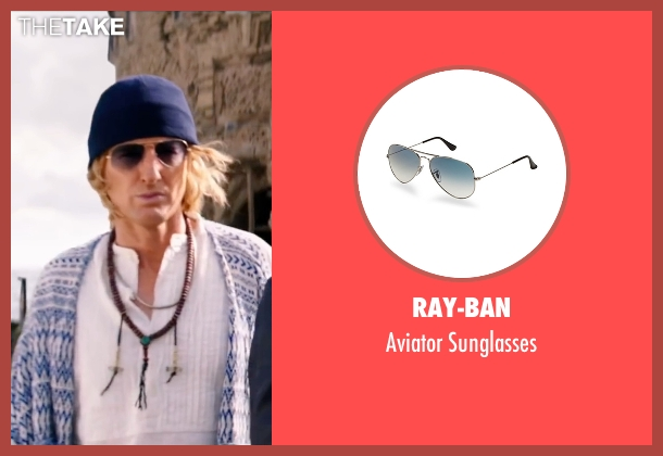 Ray-Ban sunglasses from Zoolander 2 seen with Owen Wilson (Hansel)