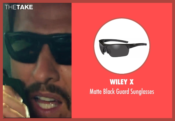 Wiley X black sunglasses from 13 Hours: The Secret Soldiers of Benghazi seen with Pablo Schreiber (Kris 'Tanto' Paronto)
