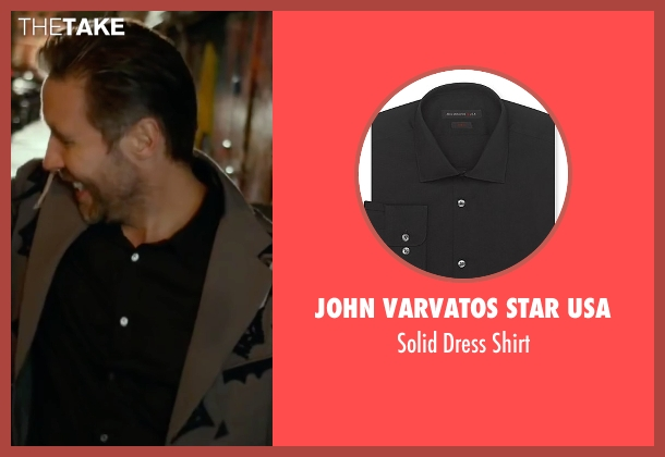 John Varvatos Star USA black shirt from Miss You Already seen with Paddy Considine (Jago)