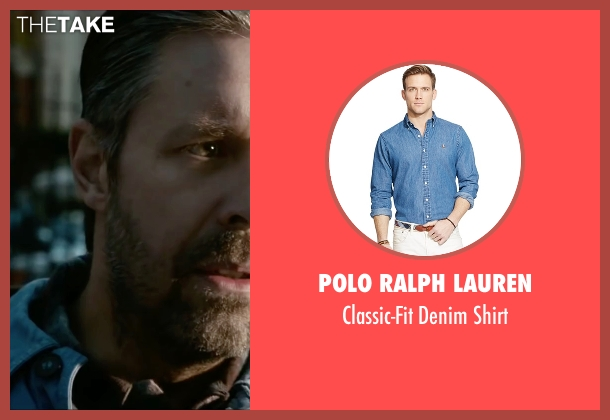 Polo Ralph Lauren blue shirt from Miss You Already seen with Paddy Considine (Jago)